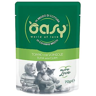 Oasy Tuna Pouch with Clams (Cats , Cat Food , Wet Food)