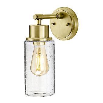 Elstead Lighting Morvah IP44 Bathroom Wall Light In Brushed Brass