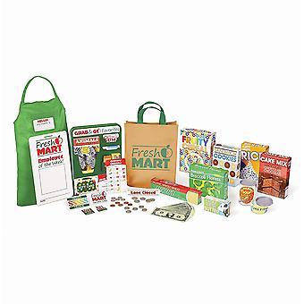 Melissa & Doug 15183 Fresh Mart livsmedelsbutik mat och rollspel Companion set (84 st)
