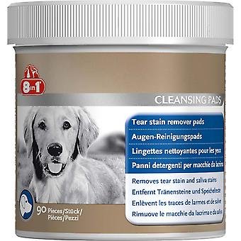 Tetra 8 In 1 Dog Tear Stain Remover Pads (Pack Of 90)