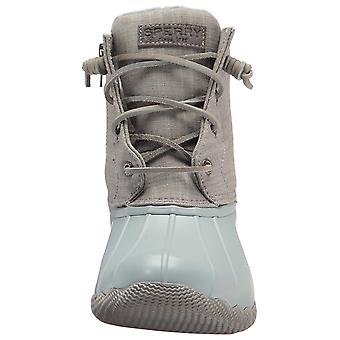 Sperry Womens Saltwater Canvas Rubber Closed Toe Mid-Calf Rainboots