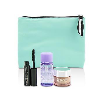 Reise-Set: alles über Auge 15ml + Mascara 3.5ml + Augen Make-up Entferner 30ml + 1 Tasche 3pcs + 1bag
