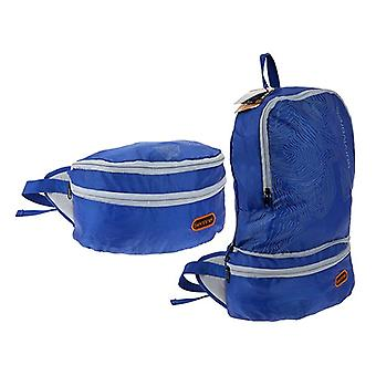 Summit Sentinel Waist Bag / Waterproof Backpack Blue and Grey