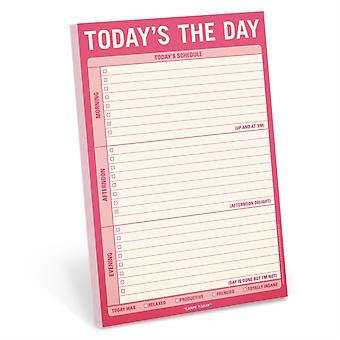 Knock Knock Todays The Day Pad by Created by Knock Knock