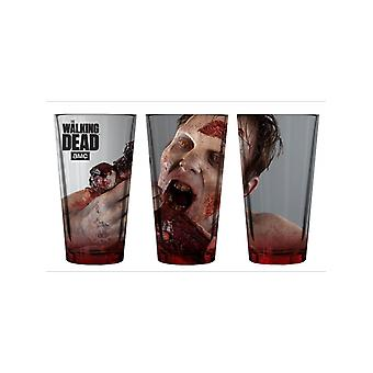 Extremely Rare Walking Dead Feasting Walker Pint Glass