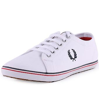 Fred Perry Kingston Twill Plimsolls Trainers B6259-100