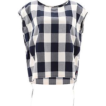 Woolrich Wwsi0060frut21033982 Women's White/blue Cotton Top