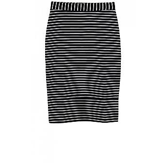 Taifun Navy& White Striped Skirt