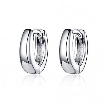 Silver Earrings Polished Circles - 6559