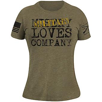 Grunt Style Women's Military Loves Company T-Shirt - Olive Triblend