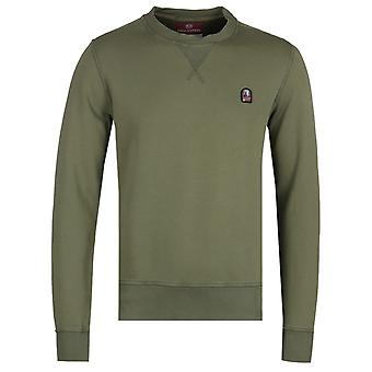Parajumpers Caleb Olive Green Crew Neck Sweatshirt