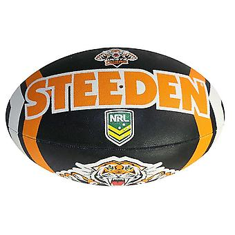 Steeden NRL Wests Tigers Supporter 2020 Rugby Ball Black/Orange