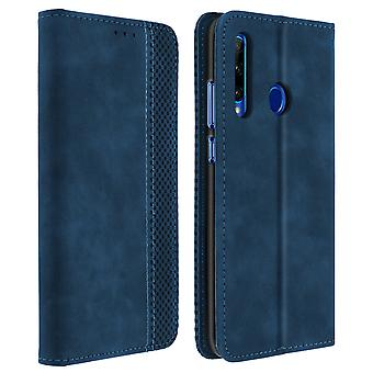 Protective Cover Honor 20 Lite / 20e Card Holder Leather Vintage Effect Blue