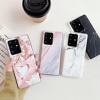 Samsung Galaxy S20 Ultra |Étui en marbre doux