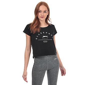 Women's Slazenger Ilena Beskåret T-shirt i sort