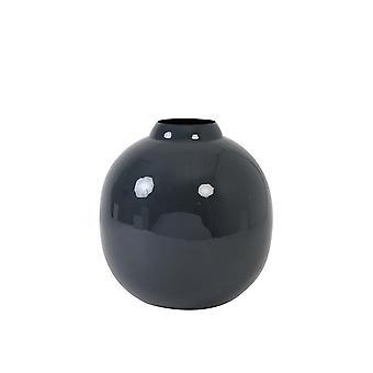 Florero ligero y vivo Deco 30x32cm Winona azul oscuro