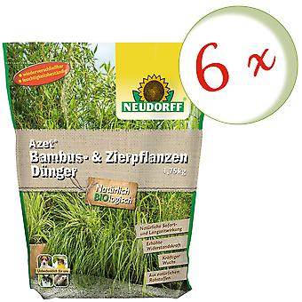 Sparset: 6 x NEWDORFF Azet® Bambu & Koristeruoho lannoite, 1,75 kg