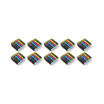 RudyTwos 10x Replacement for Canon PGI-570 CLI-571 Set Ink Unit Black Cyan Magenta & Yellow Compatible with PIXMA MG5750, TS5050, MG5751, MG5752, MG5753, MG6850, MG6851, MG6852, MG6853, TS5051, TS5053