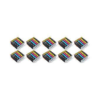 RudyTwos 10 X Ersatz für Canon PGI-570 CLI-571 Set Tinte Einheit schwarz Cyan Magenta & Gelb kompatibel mit PIXMA MG5750, TS5050, MG5751, MG5752, MG5753, MG6850, MG6851, MG6852, MG6853, TS5051, TS5053