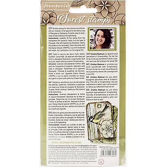 """Stamperia Cling Rubber Stamps 3.94""""X6.5"""" - Sacred Geometry"""