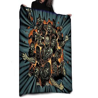 Zombie outbreak - fleece blanket, throw, tapestry