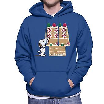 Orzeszki ziemne Snoopy Reaching For Candy Cane Męska bluza z kapturem