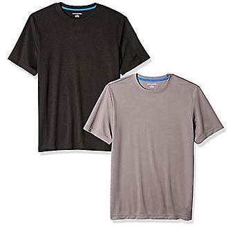 Essentials Men's 2-pack Performance Tech T-shirt, svart/mörkgrå, liten