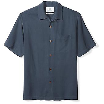 28 Palms Men's Relaxed-Fit 100% Silk Camp Shirt, Blue Night, XX-Large