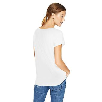 Daily Ritual Women's Jersey Short-Sleeve Boat Neck Shirt, White, X-Large