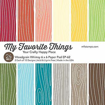 My Favorite Things Woodgrain Whimsy 6x6 Inch Paper Pad