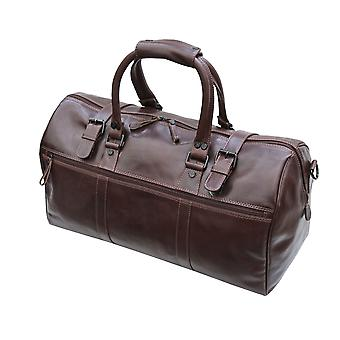Primehide Mens Small Leather Weekend Travel Holdall Overnight Gym Duffle Bag 568