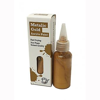 Timberkits Metalic Gold Acrylic Paint - The Perfect Accessory for Your Model