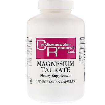 Cardiovascular Research, Magnesium Taurate, 180 Vegetarian Capsules