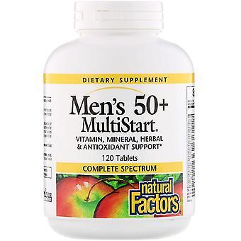 Natürliche Faktoren, Men's 50+ MultiStart, 120 Tabletten