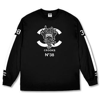 Crooks & Castles No38 Long Sleeve T-shirt Black