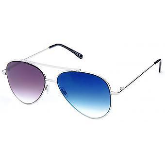 Sonnenbrille Unisex    silber/blau 18-063A