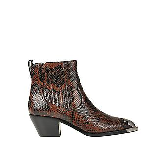 Ash Ezgl040102 Femmes-apos;s Brown Leather Ankle Boots