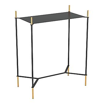 Moderna Black and Gold Accent Side Table