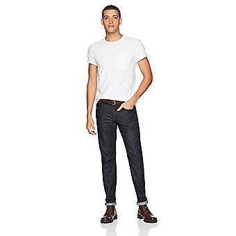 Merkki - Goodthreads Men's Lightweight Slub Crewneck Pocket T-paita, Kirkas valkoinen, Suuri