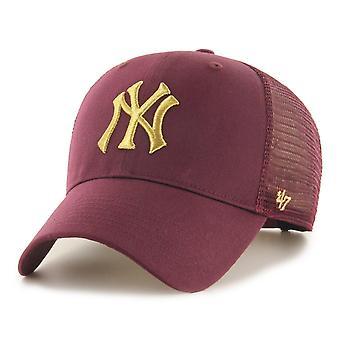 47 Brand Trucker Cap - BRANSON Metallic New York Yankees
