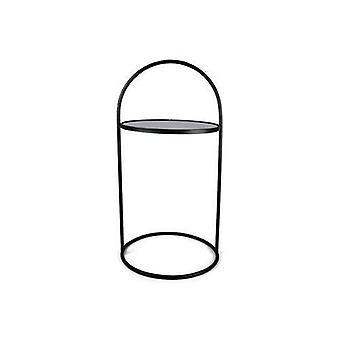 Bordglass/metall Svart H71 cm