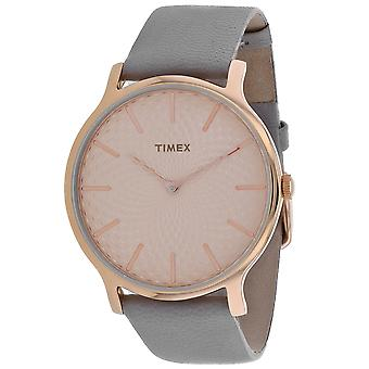 Timex Women's Metropolitan Rose Gold Dial Watch - TW2R49500