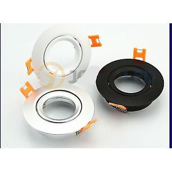 5pcs Nero/mentre/argento Colore Gu10 Mr16 Led Bracket Halogen/led Spotlight Frame Spot Porta lampade
