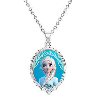 Disney Frozen 2 Elsa Silver Plated Pendant Necklace