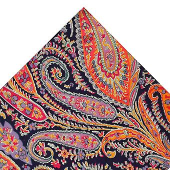 Bånd Planet Van Buck Lilla Paisley Pocket Square lavet med Liberty Fabric