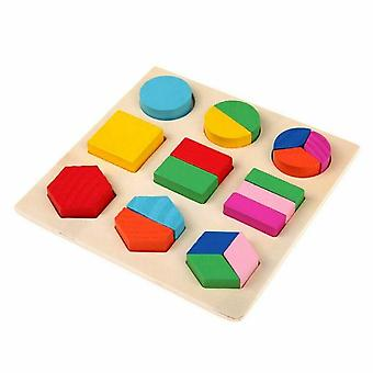 Wooden Geometric Shapes - Learning Educational, Sorting Math Puzzle Game