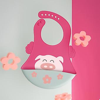 Baby Bibs Silicone Waterproof Dripping Bandana Newborn Feeding Soft Comestible
