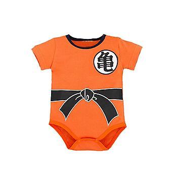 Dragon Ball Z Goku Trykt, Kortermet Bodysuit For Babyer