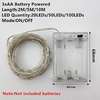 Aa Batteri 1/2/5/10/20m- Fairy Lights Kobber Wire Led String Lights Holiday Lighting