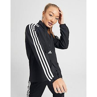 Νέα adidas Γυναίκες's 3-Ρίγες Υφασμένα 1/4 Zip Σακάκι Μαύρο / Λευκό